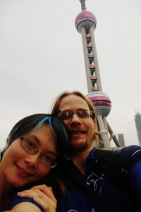 Obligatory tourist shot at the Pearl Tower (we didn't go in)